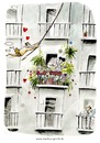 Cartoon: Großstadtdschungel (small) by markus-grolik tagged balkon tarzan city life love jungle fever garten