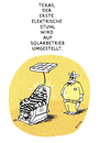 Cartoon: Solarbetriebebene Hinrichtung (small) by markus-grolik tagged solarstrom,amerika,texas,todesstrafe,ökologie,alternative,energiequellen,stromverbrauch