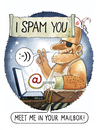 Cartoon: Tribute to the unknown spammer (small) by markus-grolik tagged spam,email,mailbox,virus,spmmer,spammail,pc,computer,lol