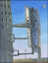 Cartoon: Robo-pecker (small) by greg hergert tagged wind power woodpeckers big oil