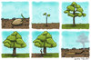 Cartoon: Life of the tree (small) by Mandor tagged tree,wood,lumberjack,ghost