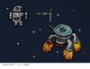 Cartoon: Empire Strikes Back with 4S (small) by Kamil tagged android,apple,star,wars,death