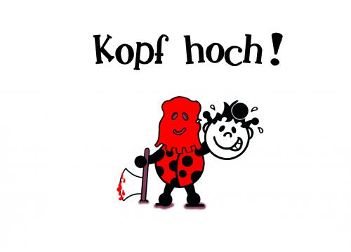 Cartoon: Kopf hoch! (medium) by Marcus Trepesch tagged cartoon,funny,gag,simple