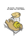 Cartoon: Prinzessin mit der Erbse (small) by Ludwig tagged prinzessin,erbse,princess,pea
