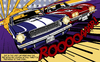 Cartoon: The Duel (small) by Michael Böhm tagged stingray mustang cars muscle lichtenstein popart classic race