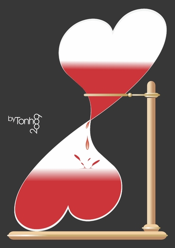 Cartoon: Time to love (medium) by Tonho tagged hourglass,time