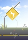 Cartoon: Care animal on the runway (small) by Tonho tagged animal,runway