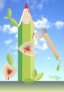 Cartoon: disappointment III (small) by Tonho tagged pencil,nature,ecology