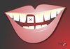 Cartoon: gap toothed smile (small) by Tonho tagged gap,toothed,smile,tooth