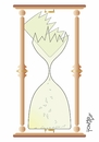 Cartoon: hourglass (small) by Tonho tagged time hourglass