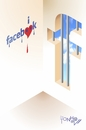 Cartoon: facebook (small) by Tonho tagged facebookzuckerbook