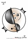 Cartoon: Laurel and Hardy fat and skinny (small) by Tonho tagged laurel,and,hardy,fat,skinny,yin,yang
