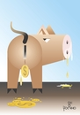 Cartoon: Savings account (small) by Tonho tagged savings,account,pig,income