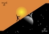 Cartoon: Sisyphus day and night and day . (small) by Tonho tagged sisyphus,night,day,legend,punishment,sisifo