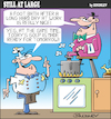 Cartoon: Still at large 117 (small) by bindslev tagged cafe,cafes,soup,soups,chef,chefs,footbath,foot,bath,relaxation,waiter,waiters,server,servers,kitchen,hygiene,unhygienic,rating,ratings,customer,service,services,restaurant,staff,recipe,recipes