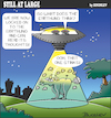 Cartoon: Still at large 99 (small) by bindslev tagged ufo,ufos,alien,aliens,methane,emissions,fart,farts,farting,earthling,earthlings,flying,saucer,saucers,spaceship,spaceships,space,travel,abduction,abductions,passing,wind,sci,fi,science,fiction