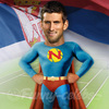 Cartoon: Novak Djokovic (small) by funny-celebs tagged novak,djokovic,atp,tennis,player,masters,grand,slam,champion,serbia
