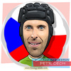 Cartoon: Pert Cech (small) by funny-celebs tagged petrcech,goalkeper,sport,football,soccer,goal,czechrepublic,arsenal,chelsea