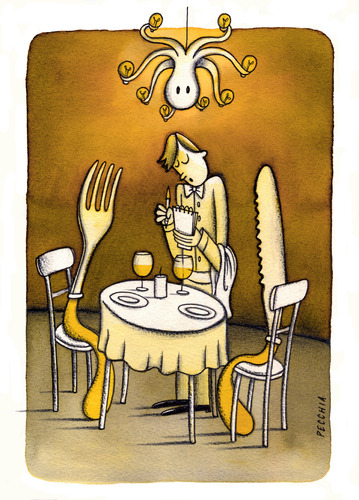 Cartoon: at dinner (medium) by Pecchia tagged pecchia,humor,cartoon