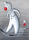 Cartoon: the usual circus in the head (small) by Pecchia tagged wine,clown,cartoon,pecchia