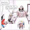 Cartoon: In dubio pro reo (small) by Storch tagged zweifel,angeklagter,zweifelssatz,pizza,lieferdienst