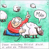 Cartoon: Klapsmühlenmähdrescher (small) by Storch tagged schaf,wiese,mäh,roter,pullover