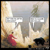 Cartoon: Absturz (small) by Anjo tagged euro,dollar,krise,finanzkrise,abwertung,rating,caspar,david,friedrich