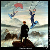 Cartoon: Herbstwind (small) by Anjo tagged herbst,autumn,kite,surfer,kitesurfer,art,caspar,david,friedrich