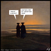 Cartoon: Rot? (small) by Anjo tagged rot,gelb,klar,karte,fussball,wm,caspar,david,friedrich,diskussion
