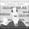 Cartoon: Red Hot Glo (small) by creative jones tagged trump,impeachment,frenzy,frenetic,media,globalism