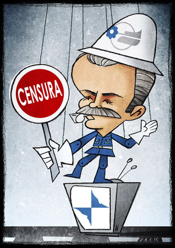 Cartoon: Masi (medium) by Giacomo tagged masi,rai,tv,media,censorship,satire,policy,mediaset,berlusconi,control,vigilant,traffic,giacomo,cardelli,jack