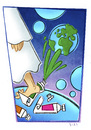 Cartoon: The creation (small) by Giacomo tagged creation,god,universe,big,bang,planets,colors,kick,tempera,green,giacomo,cardelli