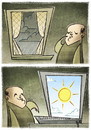 Cartoon: The Windows (small) by Giacomo tagged internet,windows,sun,clouds,weather