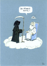 Cartoon: Du spinnst wohl?! (small) by POLO tagged gott,tod,himmel