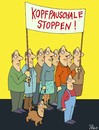 Cartoon: Kopfpauschale stoppen (small) by POLO tagged kopfpauschale,demo,demonstration
