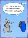 Cartoon: Fallschirme (small) by fcartoons tagged fallschirme,elefant,maus,ratte,flugzeug,springen,brille,vertauscht