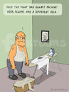 Cartoon: MAN AGAINST MACHINE (small) by fcartoons tagged man,against,machine,herb,steam,iron,frame,picture,granny,pensioner,bügeln,bügelbrett,rentner,alter,mann,tot