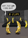 Cartoon: ON THE CONCERT (small) by fcartoons tagged concert gig pogo banana banane konzert faul flecken braun green gelb piercing stage flips