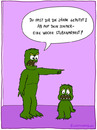 Cartoon: ungehorsam (small) by fcartoons tagged monster,ungehorsam,arrest,grün,green