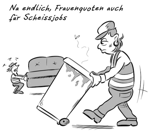 Cartoon: Frauenquoten (medium) by Rob tagged frau,frauen,frauenquote,frauenquoten,quote,quoten,woman,women,job,jobs