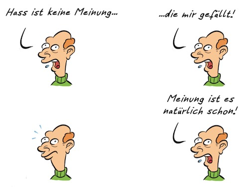 Cartoon: Kommentar Hassrede (medium) by Rob tagged kommentar,hassrede,hate,speech,meinung,opinion