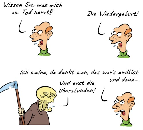 Cartoon: Kommentar Tod (medium) by Rob tagged kommentar,kommentator,tod,tot,death,dead,wiedergeburt,rebirth