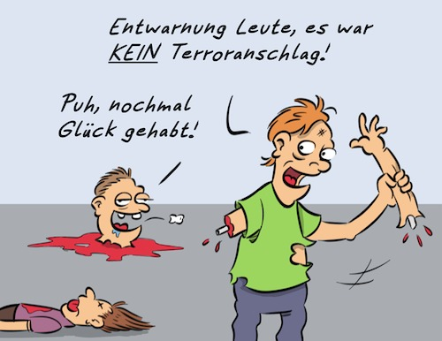 Cartoon: No Terror (medium) by Rob tagged terror,anschlag,assault,tote,gefahr
