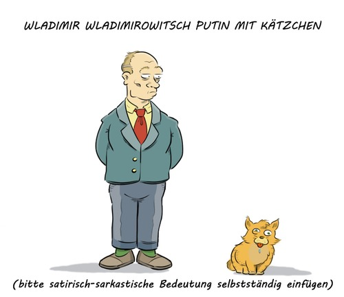 Cartoon: Putinesk (medium) by Rob tagged wladimir,wladimirowitsch,putin,katze,kätzchen,cat,kitten,ukraine,russland,russia,crisis,krise