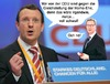 Cartoon: Homo-Ehe (small) by Rob tagged cdu,fdp,party,parties,partei,parteien,schwul,homo,ehe,marriage,gay