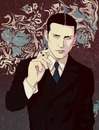 Cartoon: Thin Man (small) by sawayaka tagged crispin,glover,thin,man,charlies,angels