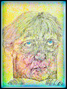 Cartoon: A. Merkel 1 (small) by Flor tagged drawing,caricatures