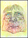 Cartoon: A. Merkel 2 (small) by Flor tagged caricatures,drawings