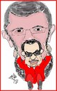Cartoon: MUBARAK AND MURSY (small) by AHMEDSAMIRFARID tagged ahmed,samir,farid,egypt,mursy,morsy,morsey