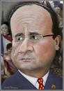 Cartoon: Francois Hollande (small) by Maria Hamrin tagged caricature,president,leader,chief,paris,france,eiffel,tower,marianne,rose,mistress,trikoloren,marine
